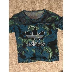 adidas Tops - Adidas Hawaii floral mesh tee